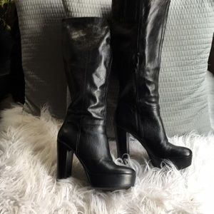 Scapegoat Platform Leather Boots